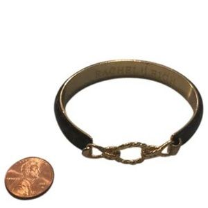 Brown Leather and Gold Bracelet with Hook Closure